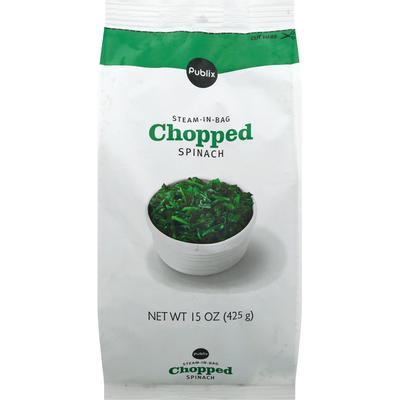 Publix Spinach, Chopped, Steam-in-Bag