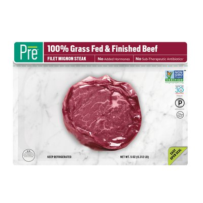 Pre Brands 100% Grass Fed and Finished Filet Mignon
