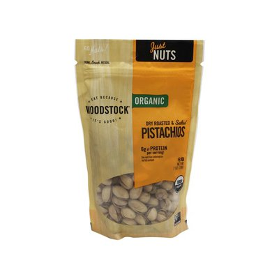WOODSTOCK Organic Pistachios, Dry Roasted and Salted