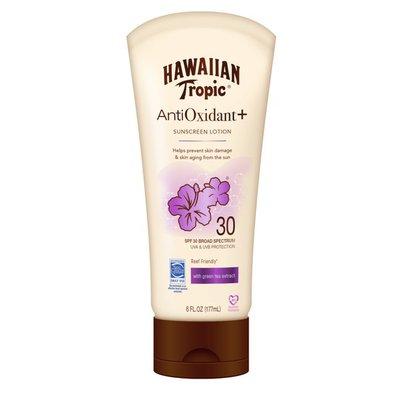 Hawaiian Tropic Sunscreen, + Antioxidant, Lotion, Broad Spectrum SPF 30