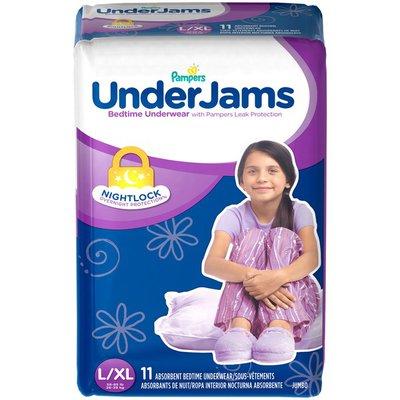 Pampers Underjams Bedtime Underwear Girls Size L/Xl