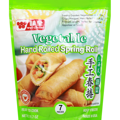 Wei Chuan Spring Rolls, Hand Rolled, Vegetable