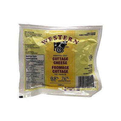 Western Creamery 0.8% Milk Fat No Salt Pressed Dry Cottage Cheese
