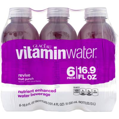 vitaminwater Revive Fruit Punch Nutrient Enhanced Water Beverage - 6 PK