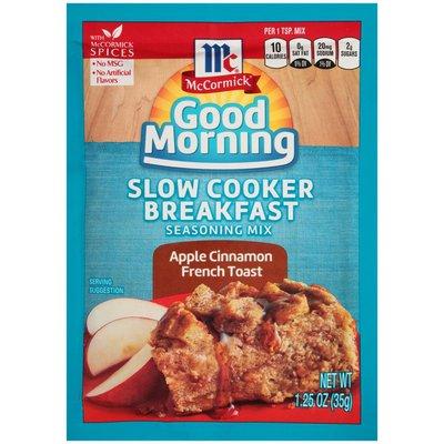 McCormick® Good Morning Apple Cinnamon French Toast Slow Cooker Breakfast Seasoning Mix