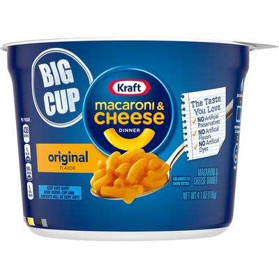 Kraft Original Macaroni & Cheese Easy Microwavable Big Cup Dinner