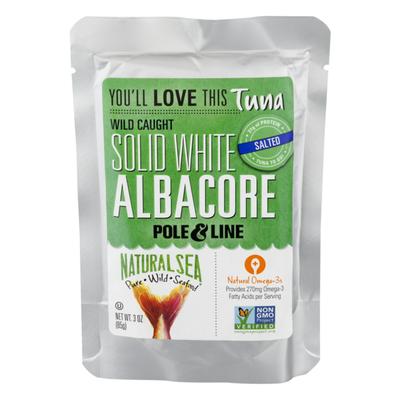 NATURAL SEA Solid White Albacore Tuna Pouch (No Salt)