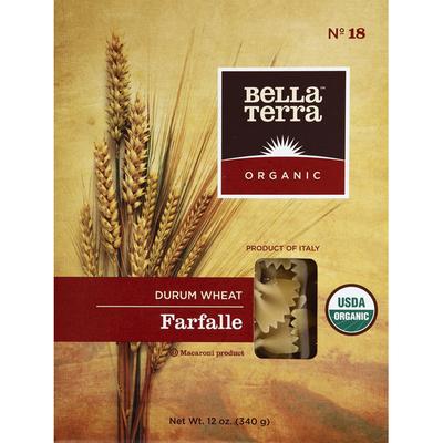 Bella Terra Farfalle, No. 18, Durum Wheat, Organic