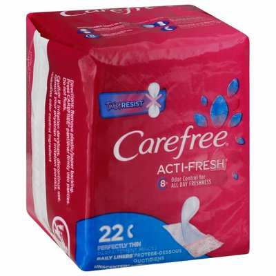 CAREFREE Acti-Fresh Thin Pantiliners To Go, Unscented