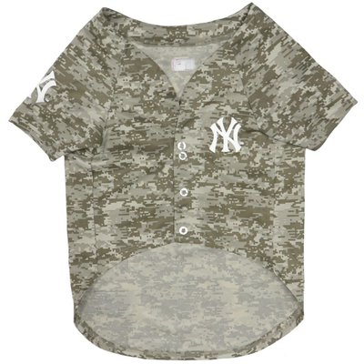 Pets First Large New York Yankees Camo Dog Jersey