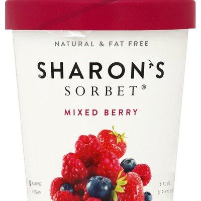Sharons Sorbet Sorbet, Mixed Berry