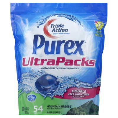 Purex Liquid Detergents UltraPacks Mountain Breeze Liquid Laundry Detergent