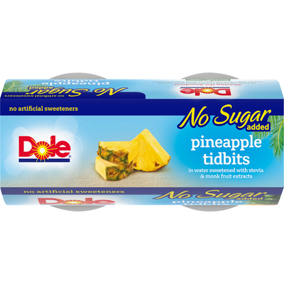 Dole Pineapple, Tidbits, No Sugar Added