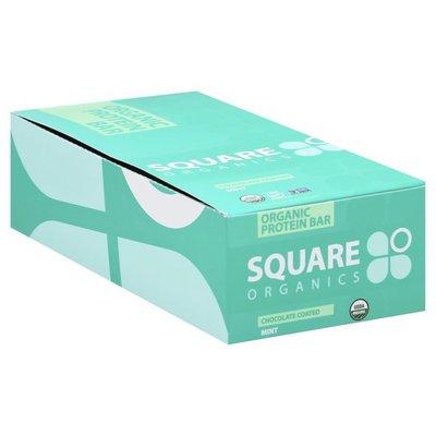 Square Organics Protein Bar, Organic, Chocolate Coated Mint, 12 Pack