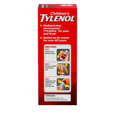 TYLENOL Oral Suspension, Dye-Free Cherry