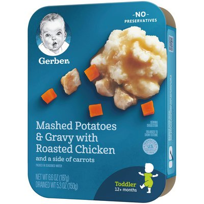Gerber Mashed Potatoes & Gravy with Roasted Chicken Side of Carrots