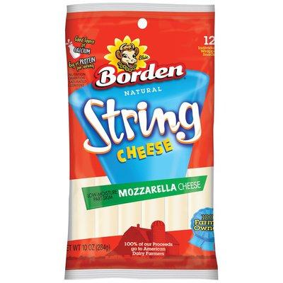 Borden String Low-Moisture Part-Skim Mozzarella Cheese Snacks