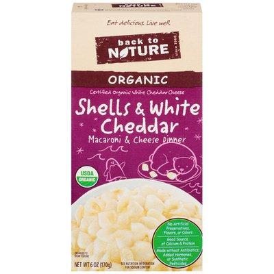 Back to Nature Organic Macaroni & Cheese Shells & White Cheddar Dinner
