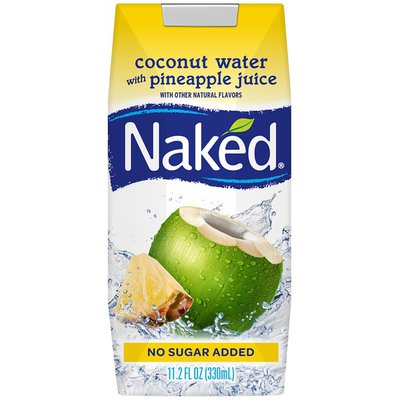 Naked Coconut Water, +Pineapple Juice