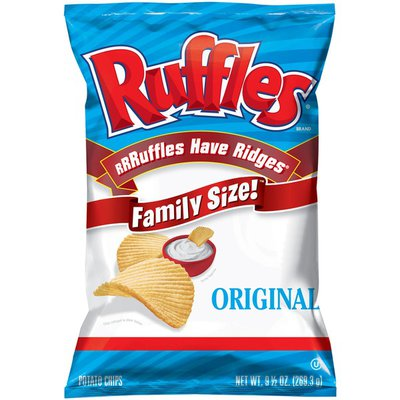 Ruffles Potato Chips, Original, Family Size