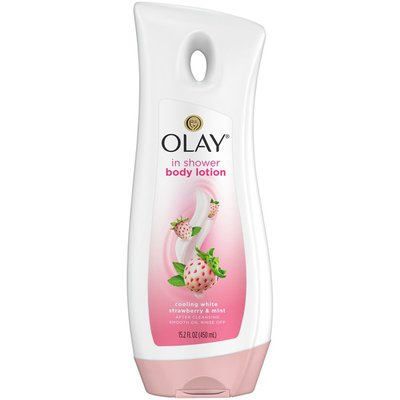 OLAY Cooling White Strawberry & Mint In Shower Body Lotion