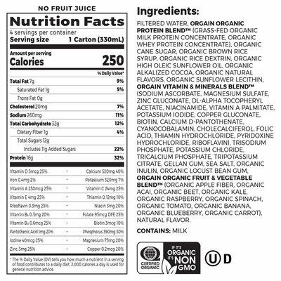 Orgain Nutritional Shake, Creamy Chocolate Fudge Flavor, 4 Pack