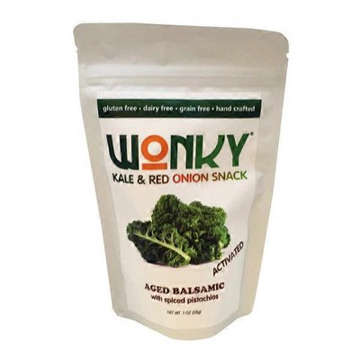 Wonky Aged Balsamic with Spiced Pistachios Kale & Red Onion Snack