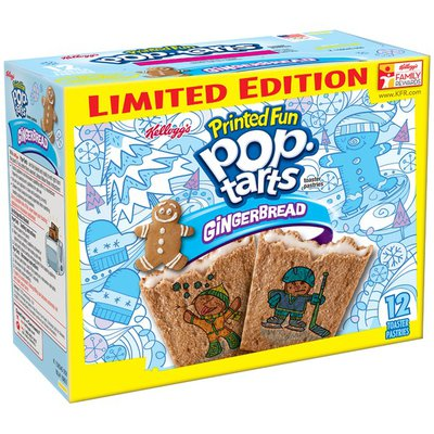 Kellogg's Pop-Tarts Printed Fun Gingerbread Limited Edition Toaster Pastries