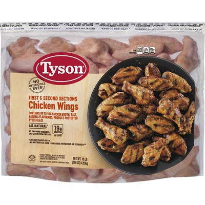 Tyson Chicken Wings, First & Seconds Sections
