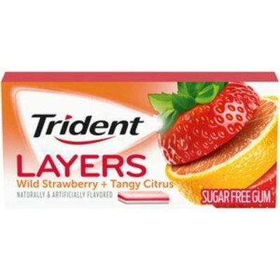 Trident Layers Sugar Free Gum, Wild Strawberry & Tangy Citrus Flavor