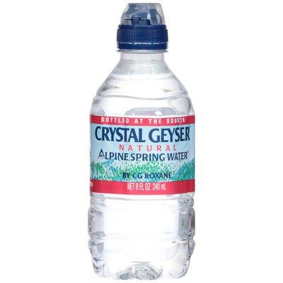 Crystal Geyser Alpine Spring Water Natural with Sport Cap Alpine Spring Water