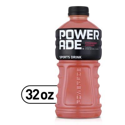 Powerade Strawberry Lemonade, Ion4 Electrolyte Enhanced Fruit Flavored Sports Drink W/ Vitamins B3, B6, And B12, Replenish Sodium, Calcium, Potassium, Magnesium