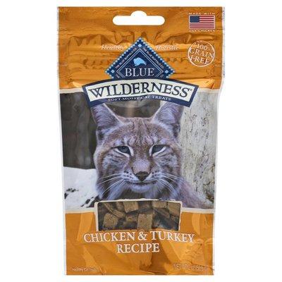 Blue Buffalo Wilderness Grain Free Soft-Moist Cat Treats, Chicken & Turkey