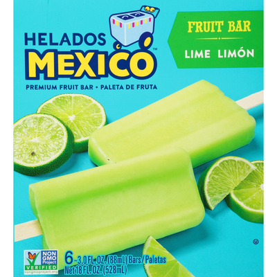 Helados Mexico Fruit Bars, Premium, Lime