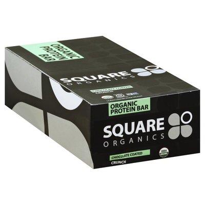 Square Organics Protein Bar, Organic, Crunch, Chocolate Coated