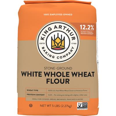King Arthur Baking Whole Wheat Flour, White, Stone-Ground