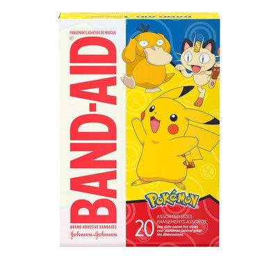 Band-Aid Brand Adhesive Bandages, Pokémon, Assorted Sizes