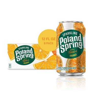 Poland spring Sparkling Water, Orange
