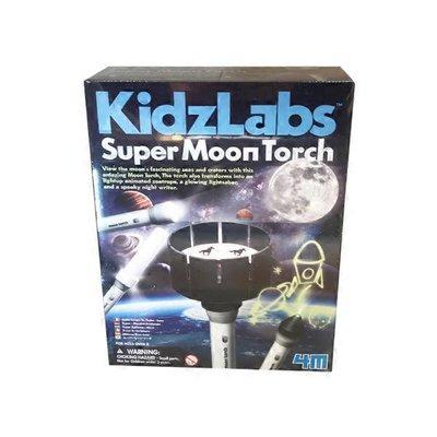 4M Kidz Labs Super Moon Torch Kids Astronomy Science & Activity Kit
