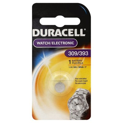Duracell Battery, Silver Oxide, 309/393