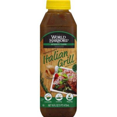World Harbors Sauce & Marinade, Italian Grill