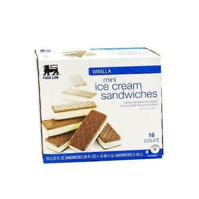 Food Lion Vanilla Mini ice Cream Sandwiches