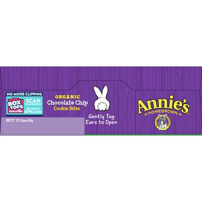 Annie's Chocolate Chip Cookie Bites, Certified Organic