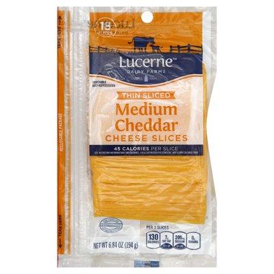 Lucerne Medium Cheddar Thin Sliced Cheese