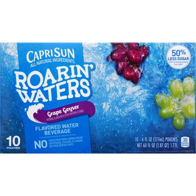 Capri Sun Grape Geyser Naturally Flavored Water Beverage