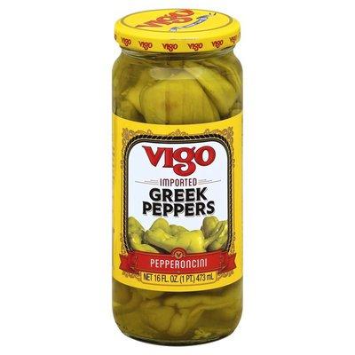 Vigo Greek Pepperoncini Peppers, Jar