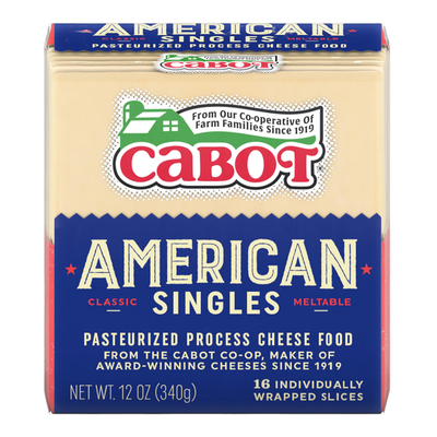 Cabot Cheese, Cabot American White Cheese Singles