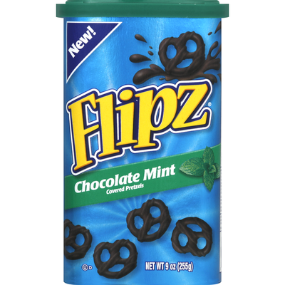 Flipz Pretzels, Chocolate Mint Covered