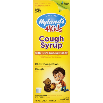 Hyland's Cough Syrup, Chest Congestion, Cough, Ages 2-12