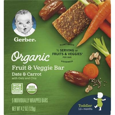 Gerber Organic Fruit & Veggie Bar